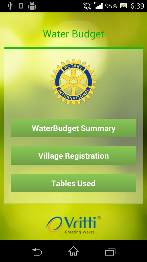 WaterBudget- screenshot