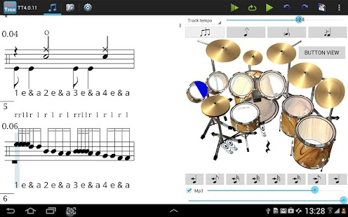 TabTrax drum tab player editor- screenshot thumbnail