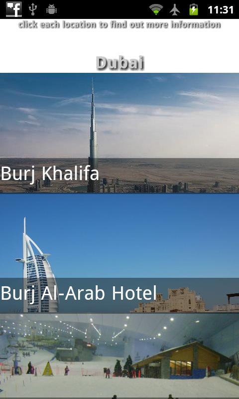 Dubai Travel Guide- screenshot