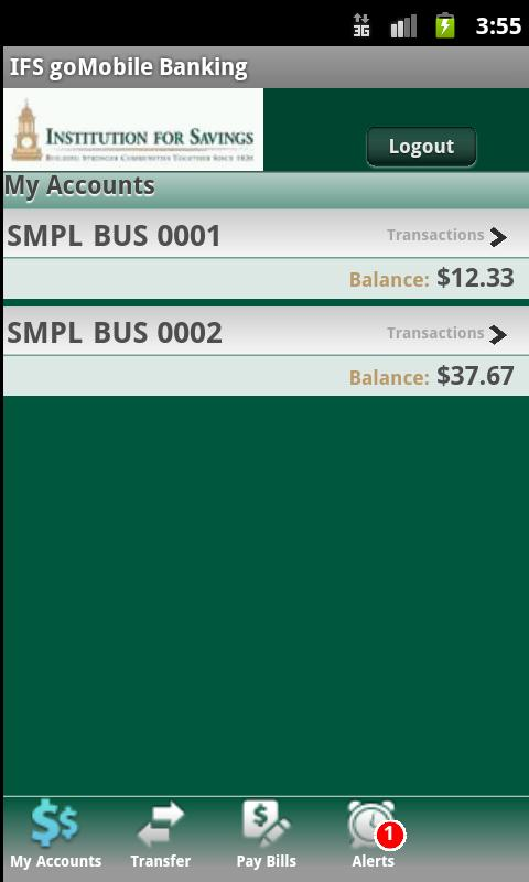 IFS goMobile Banking - screenshot