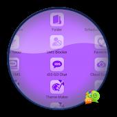 GO SMS Pro Theme Purple Nexus