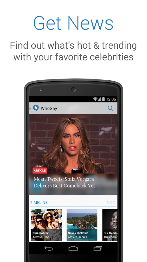 WhoSay—Celebrities Unfiltered - screenshot