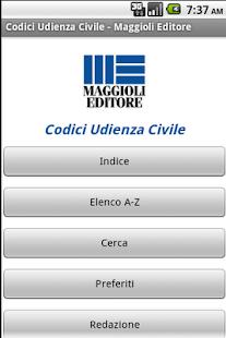 Codici Udienza Civile - screenshot thumbnail