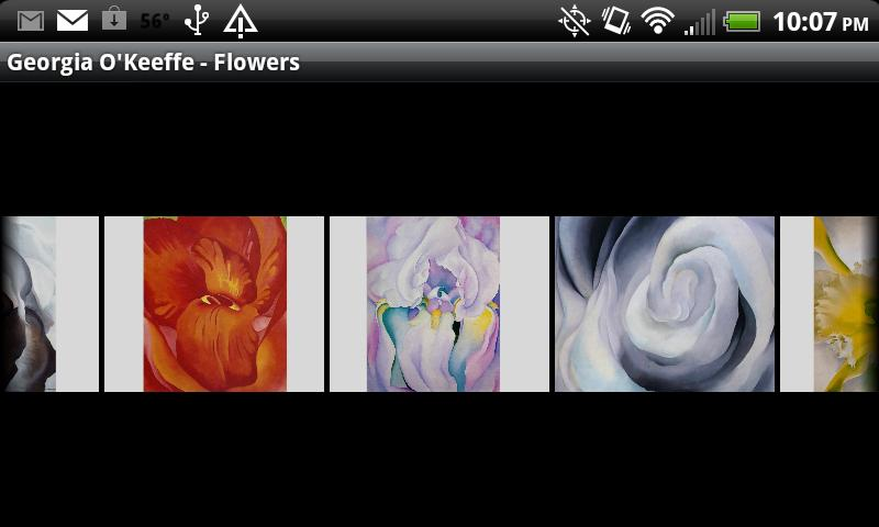 Georgia O'Keeffe - Flowers - screenshot