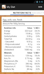 Diet Calories Vitamins Counter- screenshot thumbnail