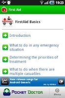 Screenshot of Pocket First Aid Pro