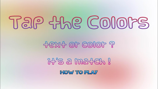 Tap the Colors