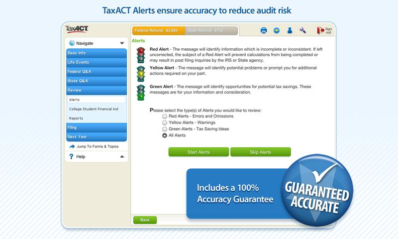 TaxACT Free Federal Edition - screenshot