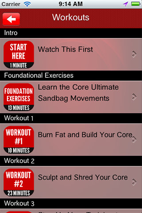Ultimate Sandbag Workouts – Screenshot