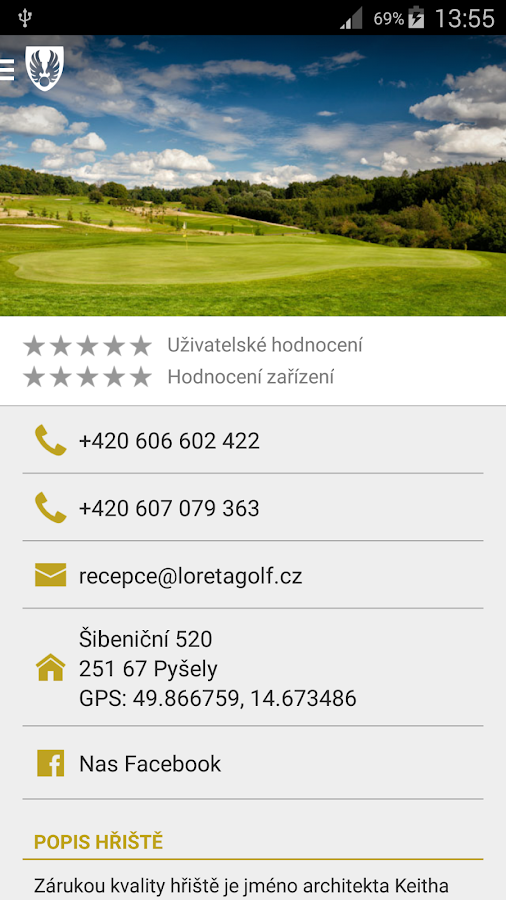Loreta Golf Club Pyšely- screenshot