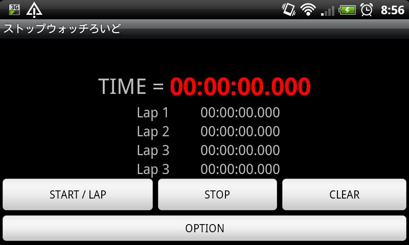 Stopwatch roid- screenshot