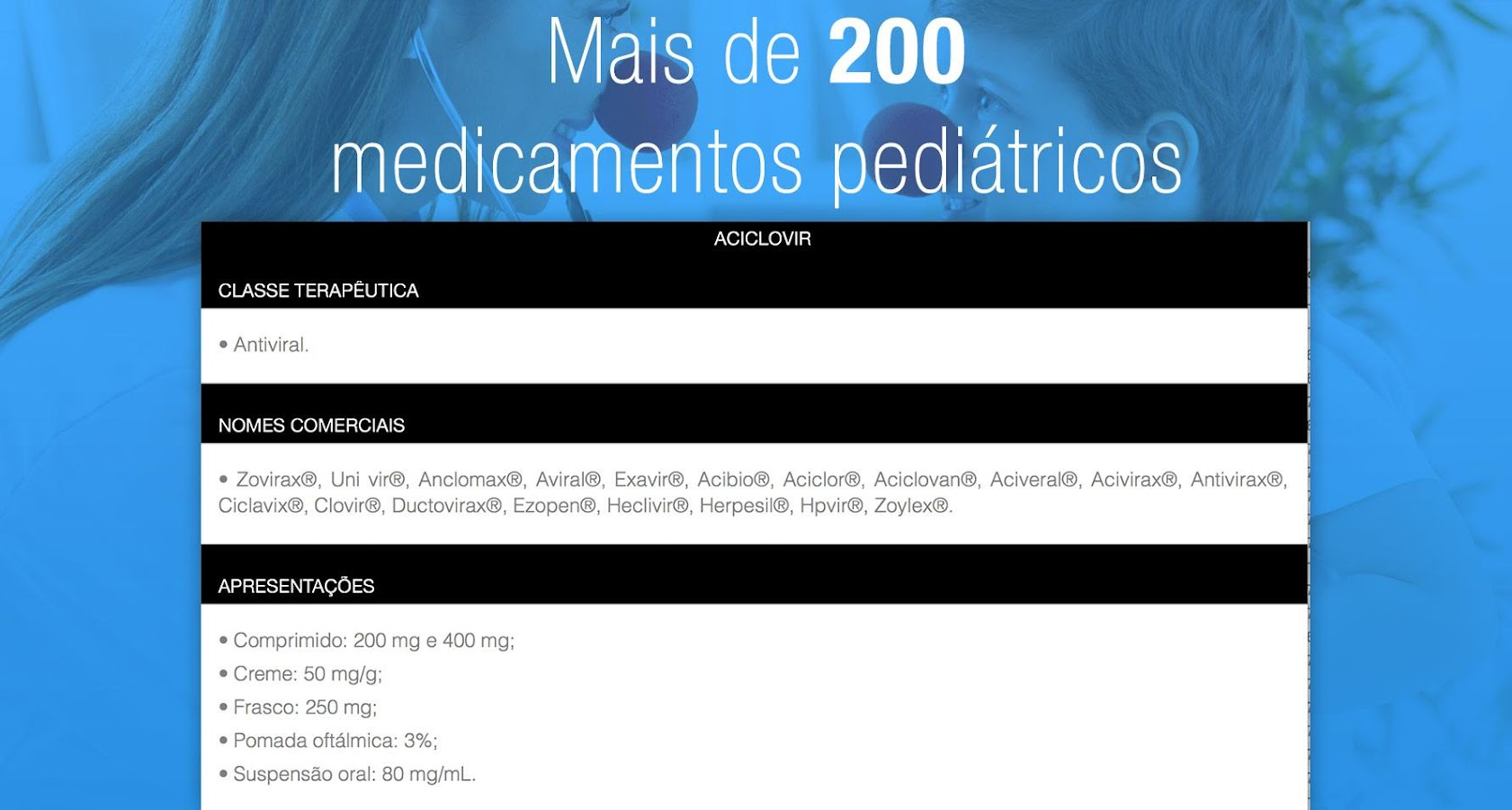 iPediatria, Pediatria Infantil- screenshot
