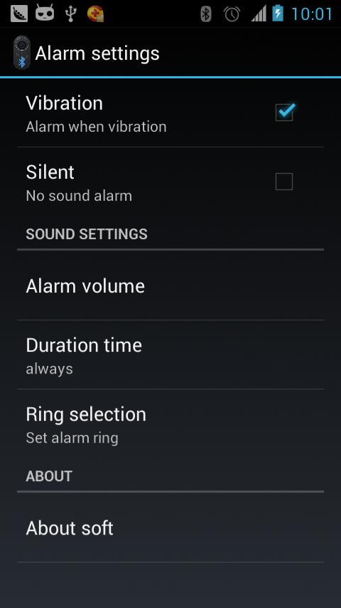 Bluetooth Headset Alarm 蓝牙耳机报警 - screenshot