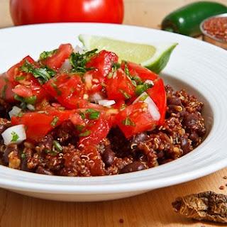 Mexican Quinoa and Beans with Pico de Gallo.