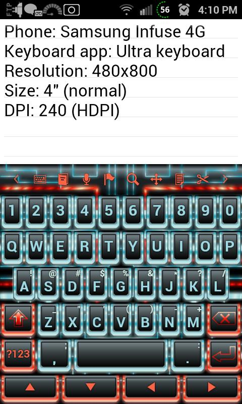 Techno Tron RB Keyboard Skin- screenshot