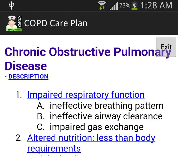 copd care plan