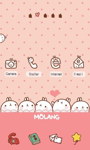 CUKI Themes love heart molang
