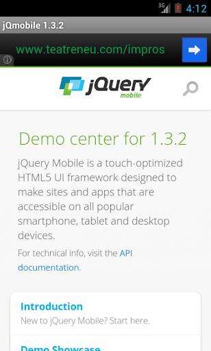 jQuery mobile 1.3.2 Demos docs