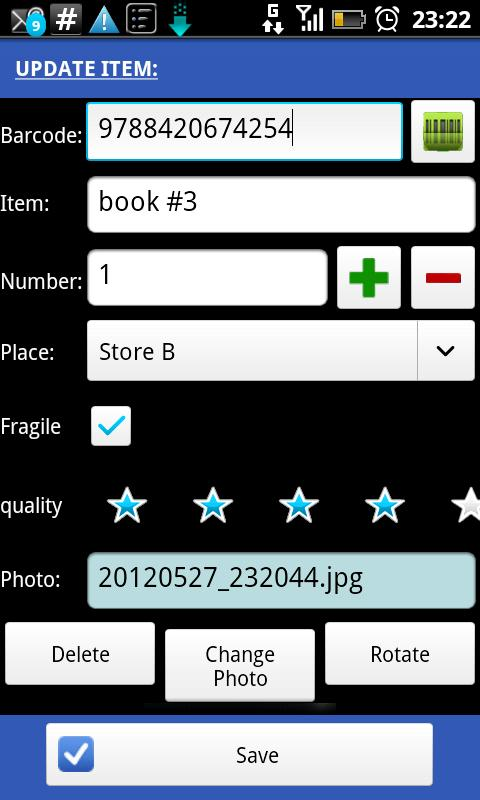 Barcode Scanner & Inventory - screenshot