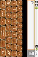 Screenshot of Gold & Wood Keyboard Skin