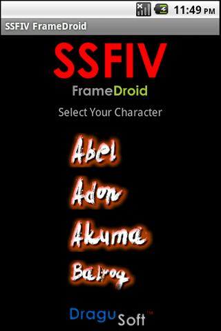 SSFIV FrameDroid - screenshot