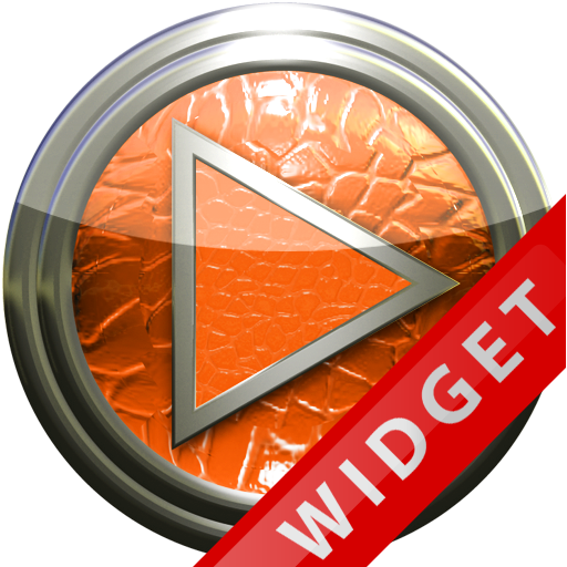 Poweramp Widget Orange Leather