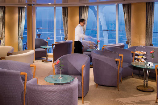 Silversea_Panorama_Lounge-1 - Silversea's Panorama Lounge is an ideal place to unwind, relax, enjoy complimentary drinks and listen to the ship's pianist.