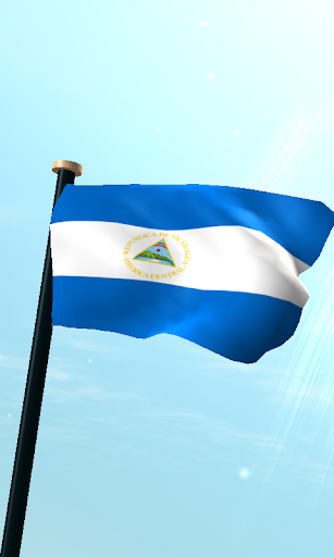尼加拉瓜旗3D動態桌布