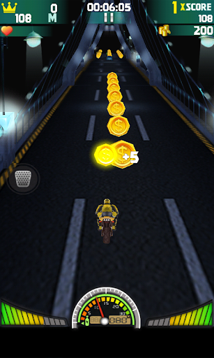 Road Speed Night Motorbike