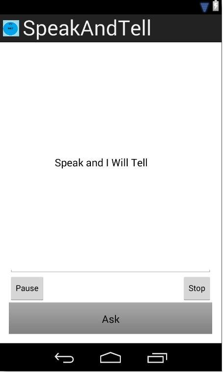 SpeakAndTell- screenshot
