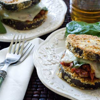 Gluten Free Eggplant Parmesan Stacks