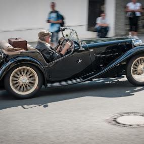 The race of right gentlemen #1 by Jan Stupka - Transportation Automobiles ( car, old car, zbraslav, automobile, czech, czech republic, motorsport, race, competition )