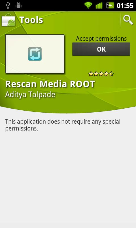 Rescan Media ROOT- screenshot