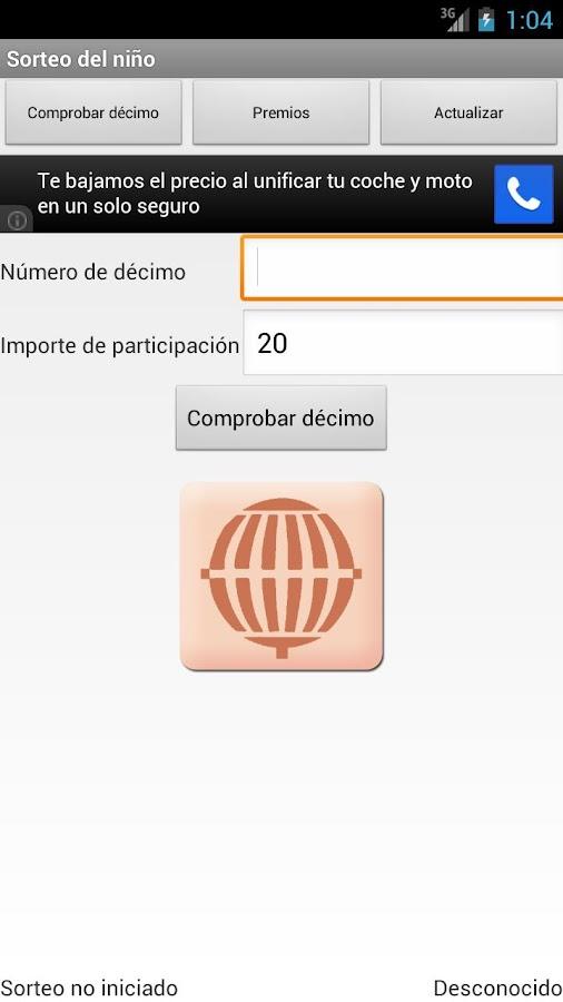 Sorteo Lotería del Niño - screenshot