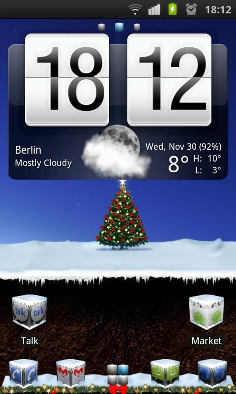Winter Cube 4 GO Launcher Ex- screenshot