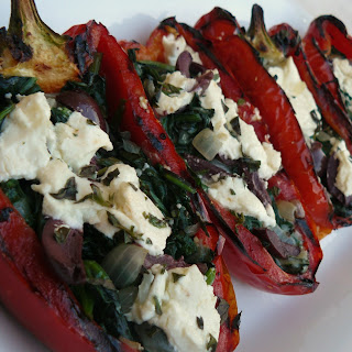 Grilled Stuffed Red Peppers.