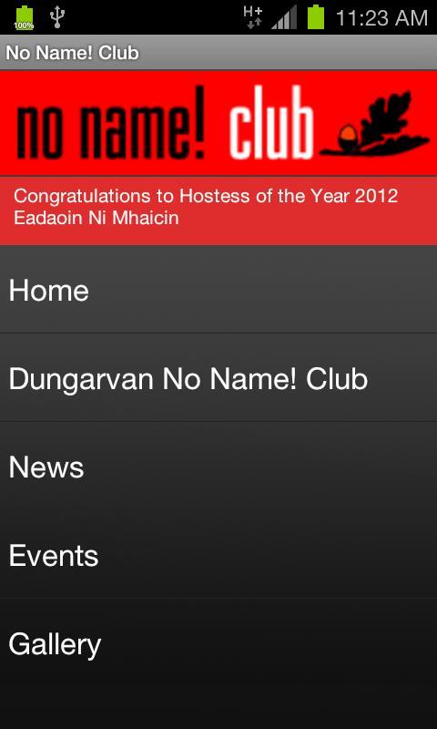 No Name Club- screenshot