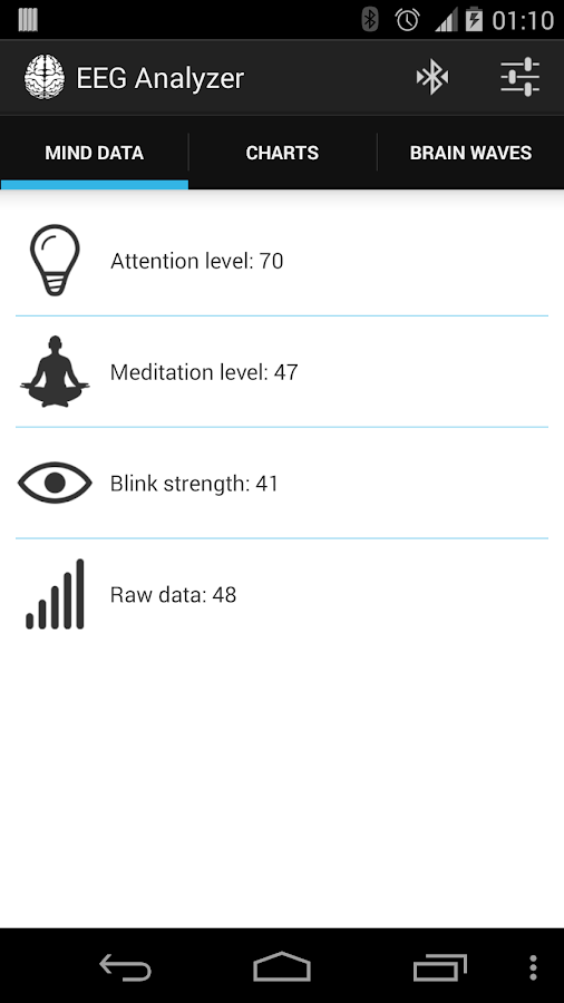 EEG Analyzer- screenshot