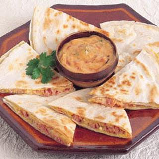 Ham & Pepper-jack Quesadillas.