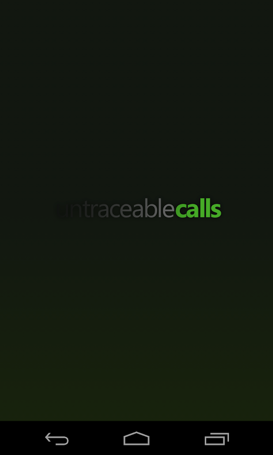 Untraceable Calls - Worldwide- screenshot
