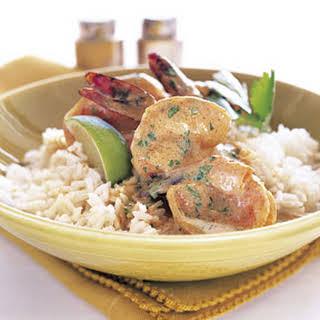 Red Curry Shrimp.