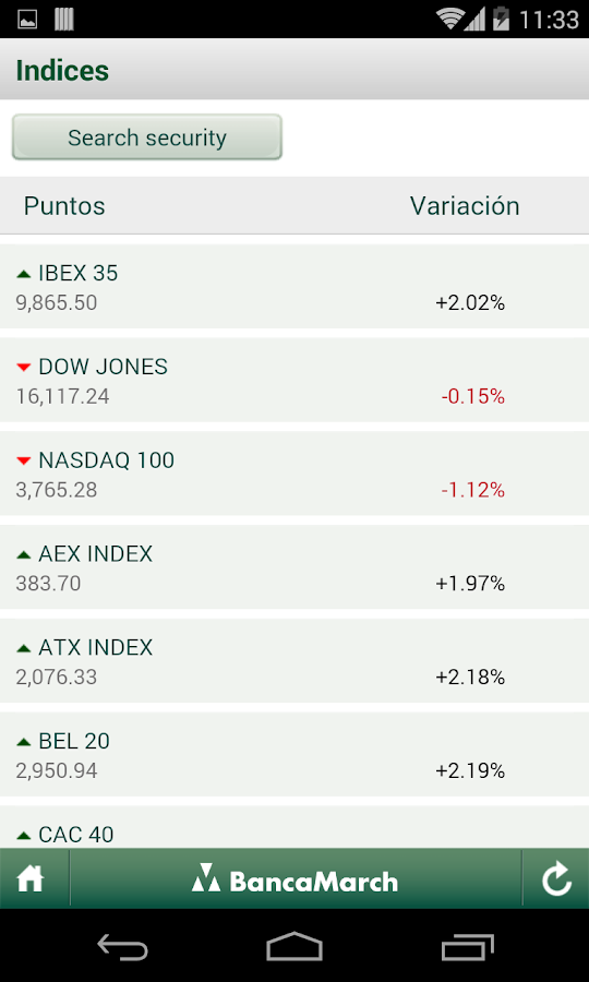 Banca March- screenshot