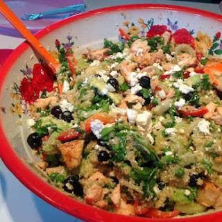 Quinoa Salade Met Zalm En Blauwe Bessen