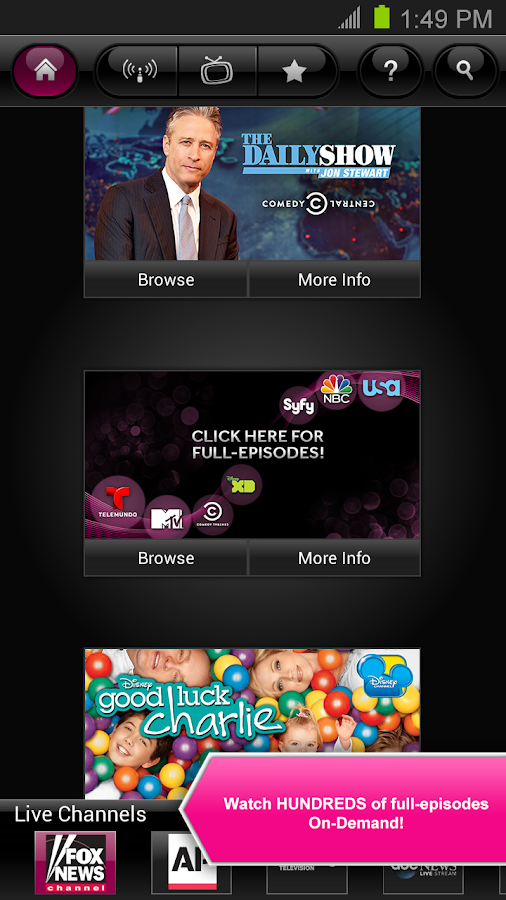 T-Mobile TV - screenshot