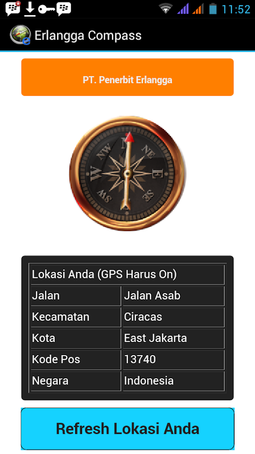 Erlangga Compass- screenshot