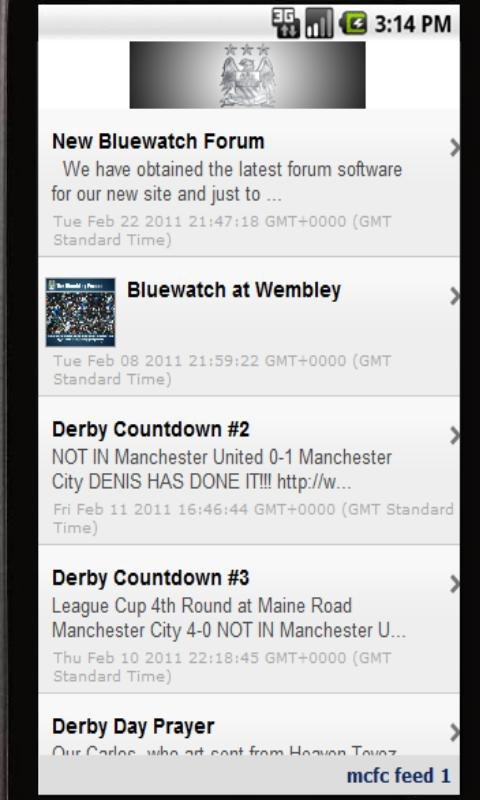 MCFC News - screenshot