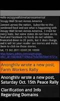 Screenshot of Occupy Wall Street America