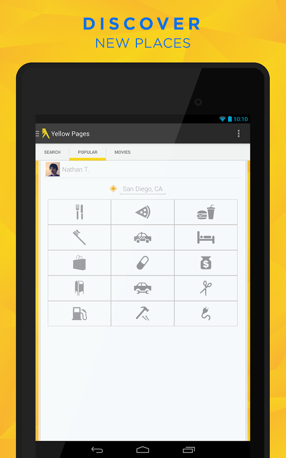 Yellow Pages - screenshot
