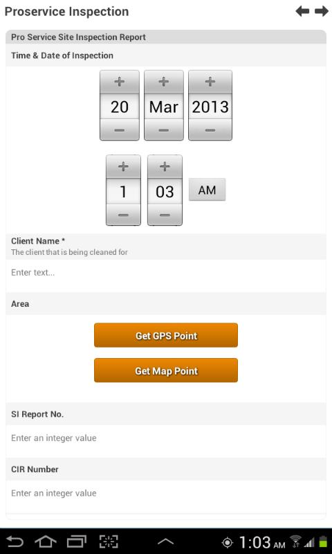 Easy Forms Pro - Mobile Forms- screenshot