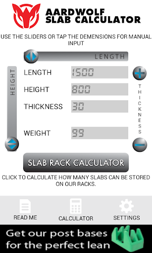 Slab Calculator